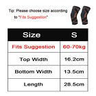 2x Knee Sleeve Compression Brace Support For Sport Joint Pain Arthritis Relief <br/> A pair. US Stock. Non-Slip Grip. S, M, L. Black Color