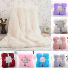 Super Soft Warm Shaggy Faux Fur Throw Blanket Sofa Double King Bed Blanket Decor image