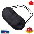 Satin Blindfold Sleeping Eye Mask Black Cover Travel Night Sleep Relax