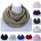 Knit Infinity Scarf Comfortable Winter Warm Thick Circle Wrap For Women Girls