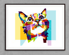 Low Poly Art Cat Inspirational Quote Poster Art Print A3 A4 A5 A6 Decor Gift Pop