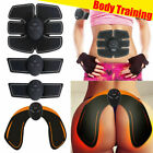 Electric Muscle Toner EMS Machine Wireless Toning Belt Simulation Abs Fat Hip US