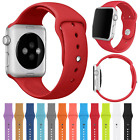 For Apple Watch Series 3/2/1 42/38mm Replacement Silicone Sport Watch Band Strap image