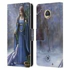 OFFICIAL ANNE STOKES YULE LEATHER BOOK WALLET CASE COVER FOR MOTOROLA PHONES