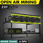 Crypto Coin Open Air Mining Frame Rig Case 8/6 GPU ETH BTC Ethereum IP