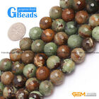 """Green Opal Faceted Round Beads for Jewelry Making Free Shipping Strand 15"""" 14mm"""