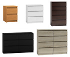 Modern Chest Of Drawers - 2,3,5,6,8 Drawers Bedroom Furniture Cabinet Selection