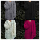 US Womens O-Neck Long Sleeve Sweater Loose Turtleneck Knitted Pullover Tops GIFT