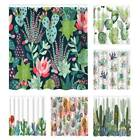 Green Plants Printed Shower Curtain Waterproof Bathroom Curtain With 12 Hooks