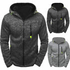 US Warm Mens Plain Hoodie Zippé Warm Hooded Jackets Sports Sweatshirt Coat Tops