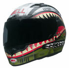 Bell Green/Red/Grey Qualifier DLX Devil May Care Motorcycle Full Face Helmet