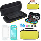 For Nintendo Switch Lite Carrying Case Bag+Clear Cover Shell+Tempered Glass Film
