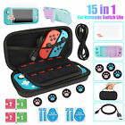 15in1 For Nintendo Switch Lite Carrying Case Bag+Cover Shell+Tempered Glass Film