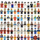 """24 NEW LEGO PEOPLE """"assorted grab bag"""" CITY TOWN SET"""