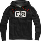 100% Mens Black Syndicate Full Zip-Up Hoody