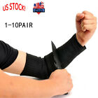 1-10 Pair Arm Guard Stainless Steel Wire Cut Proof Bracer Wrist Armband Sleeve