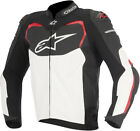 Alpinestars Mens Black/White/Red GP Pro Leather Motorcycle Racing Riding Jacket