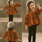US Stock Toddler Baby Girls Ruffle Sleeve Top Clothes+ Pants