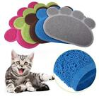 Dog Puppy Paw Shape Placemat Pet Cat Dish Bowl Feeding Food Mat Wipe Clean Y