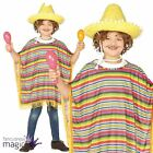 Boys Girls Child Mexican Mexico Poncho Spanish Fiesta Fancy Dress Costume Outfit