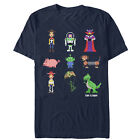 Toy Story Pixel Characters Mens Graphic T Shirt