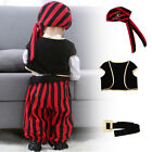 UK Carnival Cosplay Pirate Costume Fancy Outfit Clothes Party Set Baby Boy Girl