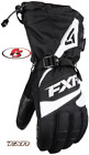 New 2019 FXR Men's Fuel Snowmobile Glove Black/White 3X Motorcycle