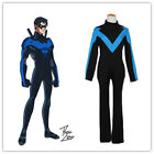 Zentai Young Justice Robin Dick Grayson Nightwing Halloween Cosplay Costume MM