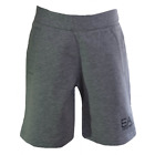 EA7 Kids Grey Cotton Shorts