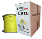 CAT6 PLENUM 1000ft ETHERNET CABLE 550MHZ White Yellow & Red