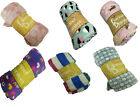 "Baby Soft Micro Plush Flannel Fleece Throw Blanket New 50""x 60"" image"