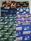 NFL Team Throw/Toss Full Pillow Handmade Sports Decor Game Day Washable Cotton on eBay