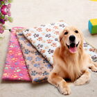 US New Cute Pet Dog Cat Paw Print Soft Blanket Puppy Kitten Bed Mat Cover GIFT