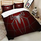 Spider Red Duvet Cover Set For Comforter Twin/Queen/King Size Bedding Set Red US image