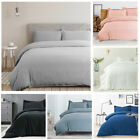 Bedsure Duvet Cover with Zipper Closure Microfiber Pillow Shams Gray Bedding Set image