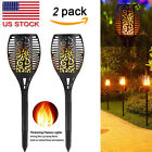 2Pack 96 LEDs Waterproof Flickering Flame Solar Torch Light Garden Lamp Outdoor