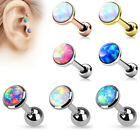 3pcs Opal Set Flat Top Tragus Helix Ear Cartilage Ring Barbell Stud Earring 16G image
