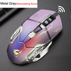 Rechargeable X8 Wireless Silent LED Backlit USB Optical Ergonomic Gaming Mouse