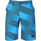 Forever Collectibles NFL Men's Carolina Panthers Diagonal Stripe Walking Shorts