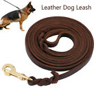 Braided Leather Dog Leash Large Medium Dogs Heavy Duty For Training and Walking