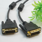 DVI to DVI Cable Dual Link 24+1 Male Video Cable Adapter Gold Plated Lot CA