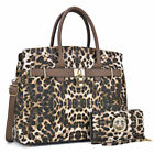 Women Classic Handbags Satchel Bags w Matching Wallet Purse and Padlock