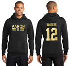 Aaron Rodgers Green Bay Packers Jersey T Shirt or Hoodie Youth and Mens Sizes