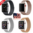 For Apple Watch Series 3/2/1 38/42mm Milanese Stainless Steel Band Strap iWatch image