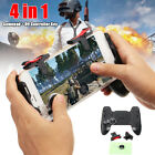 HOT 4In1 Mobile Game Gamepad Joystick Controller Trigger Shooter Key For PUBG