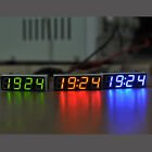 12V Digital Clock Car LED Electronic Clock Time Alarm Voltage Thermometer 4modes