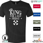 KING FOR A DAY - FRIDAY Gym Rabbit Premium TShirt BodyBuilding Fitness D514