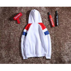 Champion Hoodie Stickerei-Colorblocking Plüsch-Kapuzenpullover Sweatshirt M-XXL