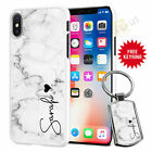 Personalised Marble Phone Case And Free Keyring For Various Phone Models 069-5