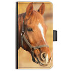 Horse Pony PU Leather Phone Case Side Flip Cover For Nokia Oneplus Microsoft